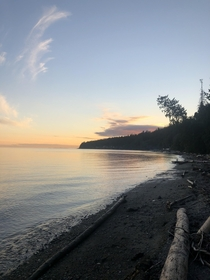 Beach at sunset Gibsons BC