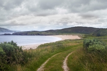 Beach on Lough Swilly  Donegal Ireland