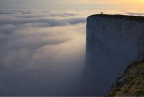 Beachy Head Chalk Cliff in Southern England nicknamed Edge of the World