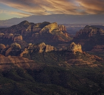 Beat cancer Went backpacking Mother nature gave me a nice present for sunset Shot April  Sedona AZ OC x