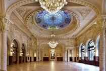 Beau-Rivage Palace Hotel ballroom in Switzerland built -