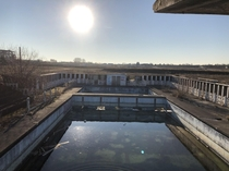 Beautiful abandoned outdoor swimming pool  near Douai France