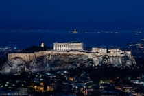 Beautiful Acropolis in Athens Greece  is now equipped with LED lights to reduce light pollution Lighting Design by Eleftheria Deko Studio Photo by Gavriil Papadiotis