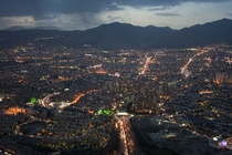 Beautiful aerial shot of Tehran Iran
