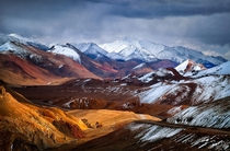 Beautiful Akbaital Pass in the Pamirs Tajikistan by Yuri Biryukov