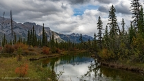 Beautiful autumn day in Jasper National Park