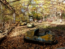 Beautiful autumn day in Pripyat Chernobyl Exclusion Zone
