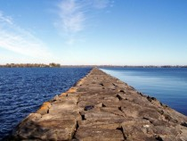 Beautiful Breakwater on Lake Champlain