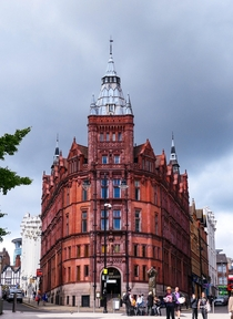 Beautiful Building in Nottingham by Alfred Waterhouse in the citys classic red brick