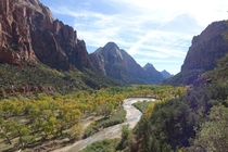 Beautiful canyon view on the way down from Angels Landing Zion NP Utah