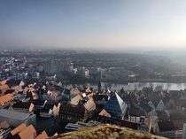 Beautiful City of Ulm an Neu-Ulm as its seen from the Ulmer Mnster the highest steeple in Germany