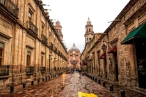 Beautiful Colonial Cathedral of Morelia in Michoacan Mexico