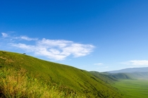 Beautiful colorful countryside of the entrance to Ngorongoro Crater Tanzania