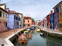 Beautiful colors in Burano Italy