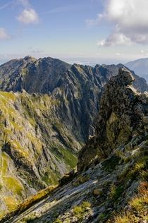 Beautiful day in the Eagles Path or Orla Per in the Tatra Mountains