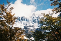 Beautiful day in Valle Frances captured with a disposable camera Torres del Paine National Park Chile