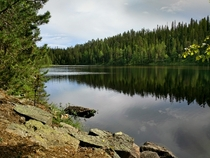 Beautiful finnish nature in Suomussalmi Finland