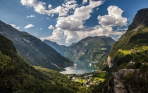 Beautiful Geiranger Village Norway