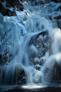 Beautiful ice formations today inside Wahconah Falls Massachusetts