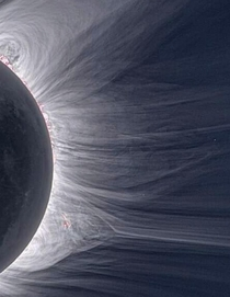 Beautiful image of the Suns corona during a solar eclipse