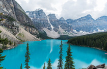Beautiful Lake Moraine in Banff Alberta