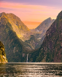 Beautiful light at Milford Sound New Zealand
