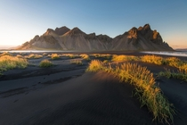 Beautiful light at Stokksnes Iceland
