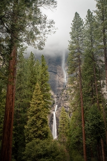 Beautiful mood of Yosemite Falls Captured Yosemite National Parkl CA