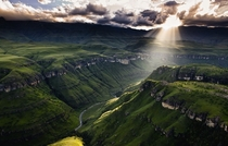 Beautiful mountain range in the Drakensberg South Africa x