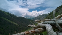 Beautiful mountain scenery from a campsite in Silverton Colorado