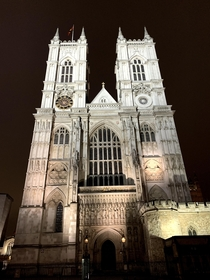 Beautiful photo I got of Westminster Abbey in January
