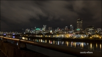 Beautiful Portland Oregon at night