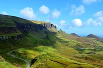 Beautiful Quiraing in The Isle of Skye Scotland