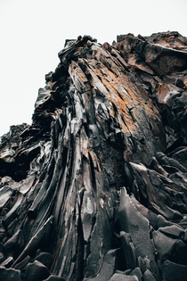 Beautiful rock formation at an Icelandic beach