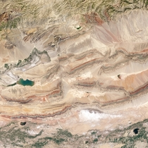 Beautiful sedimentary faults in Xinjiang province
