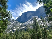 Beautiful shot that I took of Half Dome in Yosmite CA  x
