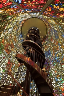 Beautiful Stained glass staircases at Hakone Outdoor Museum Kanagawa Japan