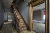 Beautiful Staircase amp Woodwork Inside an Abandoned Nineteenth Century Ontario Farm House