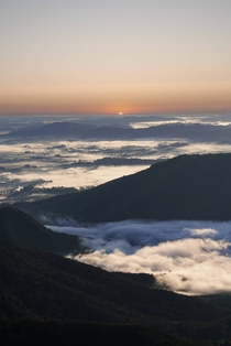 Beautiful sunrise at Mt Warning Australia