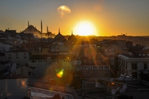 Beautiful sunrise in Istanbul
