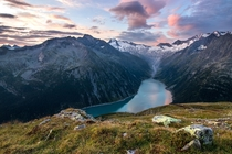 Beautiful sunrise on a trek we did a few weeks back  Schlegeisspeicher Tirol Austria