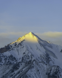 Beautiful sunrise over peak Agitator m Ala-Archa national park Kyrgyzstan  ibraim_almazbekov