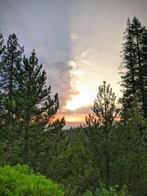 Beautiful sunset at Paulina Peak Deschutes National Forest OR