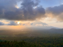 Beautiful sunset in Mordor - Mt Agung in Bali  x