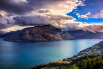 Beautiful Sunset Over Queenstown NZ
