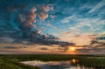 Beautiful Sunset Over the Florida Everglades
