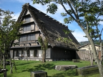 Beautiful thatched inn in Oita Japan
