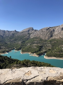 Beautiful turquoise waters El Castell de Guadalest  x