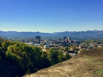 Beautiful view of Asheville NC