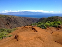 Beautiful view of Maui from Lanai